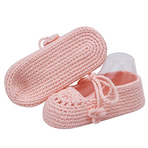 Pictures of Kuner Handmade Crochet Newborn Baby Shoes Mary 5
