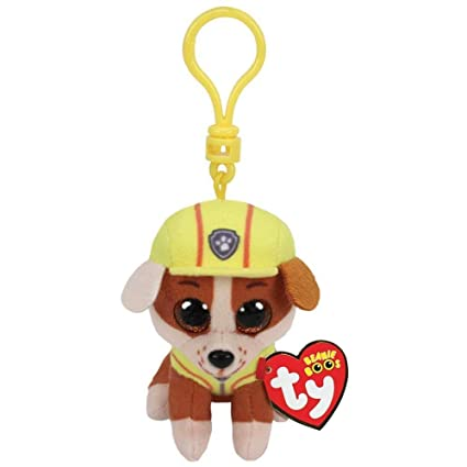 dd10e821a36 Amazon.com  T Y Ty Paw Patrol RUBBLE - Bulldog dog clip  Toys   Games