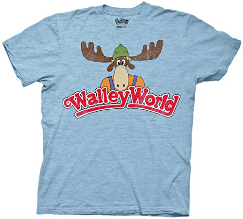 National Lampoon's Vacation Walley World Adult T-Shirt (XXXL , Heather Light Blue)]()