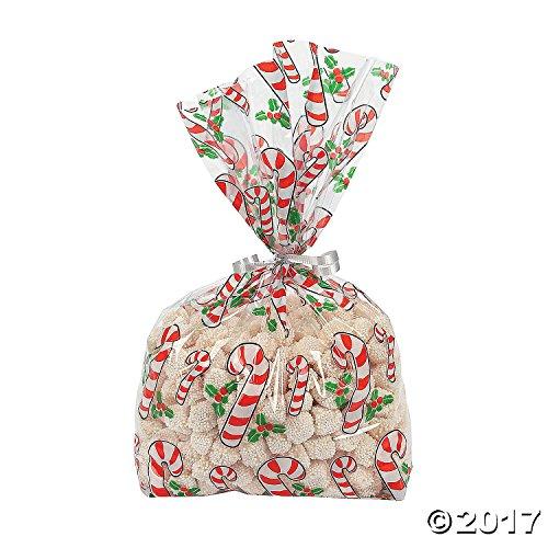 6 Dozen- Cellophane Candy Cane Bags (72 Pc)