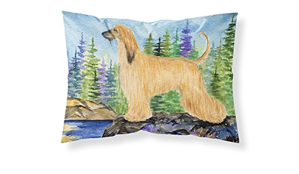 Caroline S Treasures Ss8220pillowcase Afghan Hound Moisture Wicking Fabric Standard Pillowcase Large Multicolor Home Kitchen