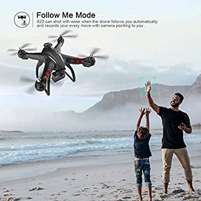 Drone Eye FPV Drone with 1080p HD Camera Live Video and Double GPS Return Home, RC Quadcopter for Adults Beginners with Brushless Motor,-Follow Me, 5G WiFi Transmission, Long Control Range