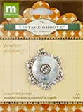MAKING MEMORIES Jill Schwartz Vintage Groove Pendant Etched Button