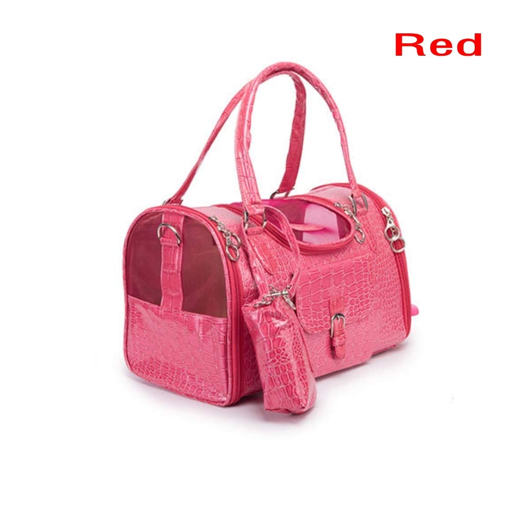 Red L Red L FidgetGear New Pet Dog Carrier Handbag Shoulder Bag Travel Tote Sided Small Large Cat Purse Red L