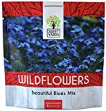All Blues Wildflower Seeds Mix - Large 1 Ounce Packet - Over 7,000 Annual and Perennial Flower Seeds