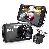 "Pyle Upgraded 4.0"" IPS Screen Vehicle DVR Mirror Dash Cam Kit - Dual"