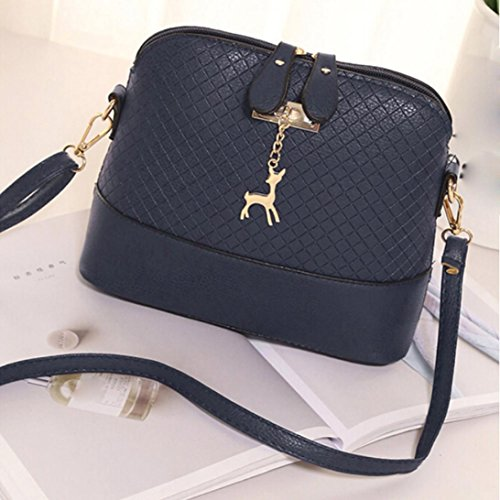 LtrottedJ Women Messenger Bags Fashion Mini Bag,Deer Toy Shell Shape Bag Shoulder Bags (Blue)