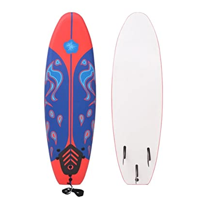Festnight- Tabla de surf (suave, 170 cm), color azul