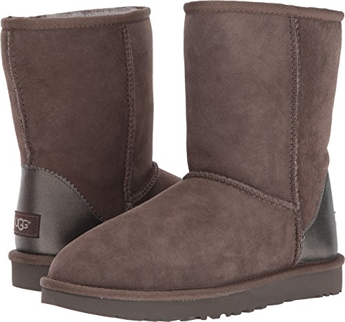 UGG Women's Classic Short II Metallic Winter Boot,Slate,6 M US by UGG