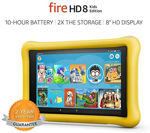 Fire HD 8 Kids Edition Tablet 8 HD Display 32 GB Yellow KidProof Case Previous Generation  8th