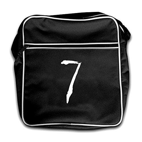 Bag Flight 7 Black Red Paint Brush Dressdown Retro n7zX4