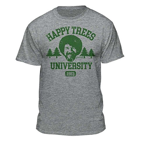 Bob Ross Happy Trees University Official Licensed Athletic Fit T-Shirt