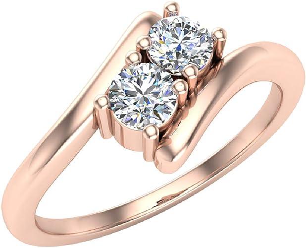 Large Heart Shape Rose Pink CZ Stone Gold EP Ladies Ring