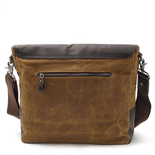 Semplice per e Travel scuola Borsa Aszdfihas Crossbody Messenger Bags Messenger lavoro a Bag Retro impermeabileCachi Colore tracolla Canvas rCoWeQxdB