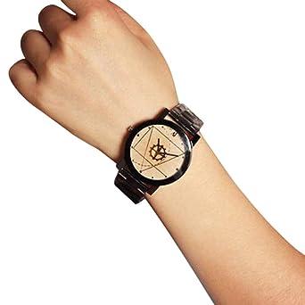 Cebbay Montres connectées Mode-Uhr-Edelstahl-Quarz-Analog-Handgelenk WH Montres