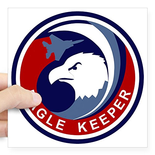 CafePress - F-15 Eagle Keeper Square Sticker 3