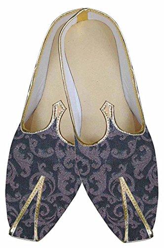 INMONARCH Hombres Vino Último Buscar Zapatos de Boda India MJ0173