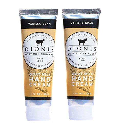 Dionis Goat Milk Hand Cream 2 Piece Travel Gift Set - Vanilla Bean
