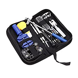14 in 1 High Precision Watch Wristwatch Repair Tools Kit Case Opener Link Remover Spring Bar Tool Set