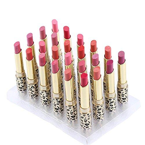 - Lipsticks Set, 12 Colors 24pcs Leopard Moisturizing Matte Lipstick Waterproof Long Lasting