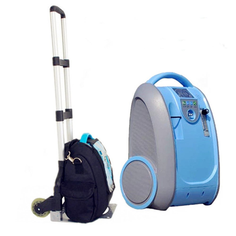 Lekoc 酸素発生器 PSA高濃度酸素濃縮器 空気清浄機 携帯便利 静音 酸素濃度30-90% 1-5L 家庭用 車載用可能 充電式電池付き 旅行用 アウトドア用 B07D6H3XD7