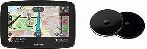 TomTom GO 620 - Navegador 6 Pulgadas, Llamadas Manos Libres, Siri y Google Now, actualizaciones + Discos Adhesivos, para el salpicadero para Todos los navegadores TomTom, como Start, Via,GO, GO Basic