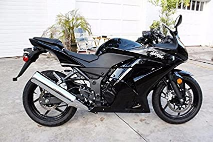 Amazon.com: Gloss Black Complete Injection Fairing for 2008-2012 ...