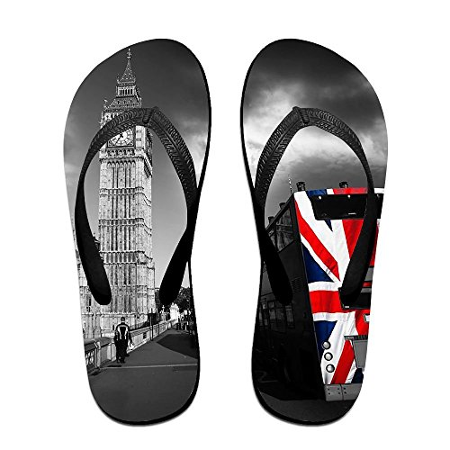 (Fashion Beach Flip Flops London Bus Big Ben Unisex Lightweight Home Sandals Slippers)