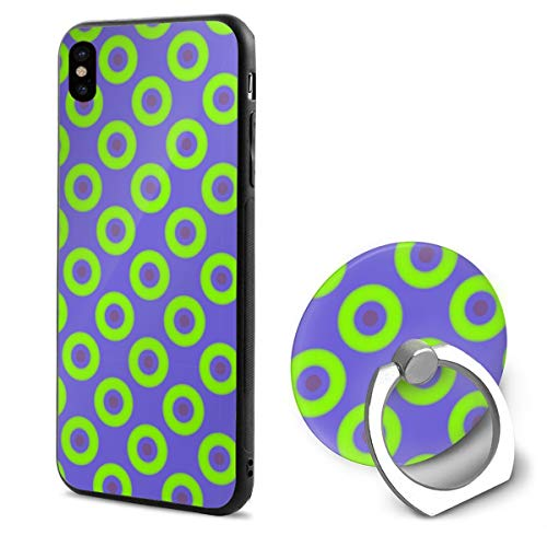 HufdDS462DS Green Phish Circles iPhone X Case iPhone X Cover Ring Bracket -