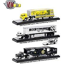 Auto Haulers Mooneyes Release, 3 Trucks Set 1/64 Diecast Models by M2 Machines 36000-MOON01