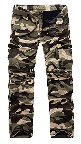 - AOYOG Mens Fleece Lined Cargo Pant Windproof Work Pants(Army Green Camouflage),30W31L