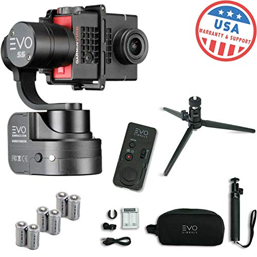 EVO SS Wearable Gimbal Stabilizer for GoPro Hero4, Hero5 Black, Yi 4K, Garmin Virb Ultra 30 - Bundle Includes EVO SS Gimbal, Extra Batteries, Wireless Remote, Tripod Stand (4 Items)