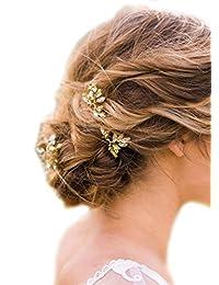 Missgrace 3pcs Wedding Bridal Crystal Rhinestone Bridal Hair Pins Clip