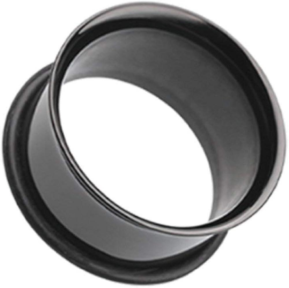 Covet Jewelry Colorline Single Flared Ear Gauge Tunnel Plug