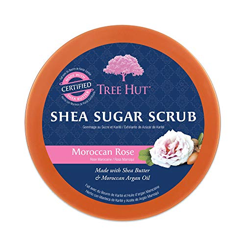 Tree Hut Shea Sugar Scrub Moroccan Rose, 18oz, Ultra Hydrating and Exfoliating Scrub for Nourishing Essential Body Care…