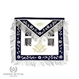 El Mixto Bullion Past Master Apron by Masonic Revival (with Square)