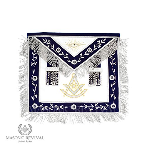 El Mixto Bullion Past Master Apron by Masonic Revival (with Square) by Masonic Revival (Image #4)