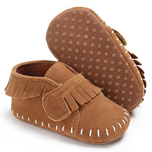 Igemy 1Paar Baby Schuhe Jungen Mädchen Neugeborene Krippe Soft Sole Sneakers Braun