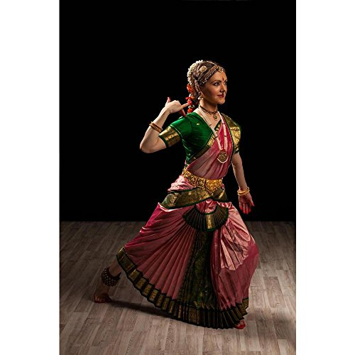 Pitaara Box Indian Classical Dance Bharatanatyam - LARGE Size 20inch x 30inch (50.8cms x 76.2cms) - UNFRAMED ARTISTIC CANVAS Wall Paintings: DIGITAL PRINT Wa : Music & Dance, Traditional : Photography - Traditional Costume Contemporary Dance