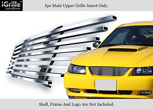 APS 304 Stainless Steel Billet Grille Fits 1999-2004 Ford Mustang V6/V8 GT - Grill Billet Ford Mustang Grille