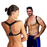 Medisure Adjustable Back Posture Corrector for Men and Women: Lightweight, Padded Posture Brace Provides Back Pain Relief, Shoulder and Neck Support – Superior Comfort – Perfect Posture Corrector