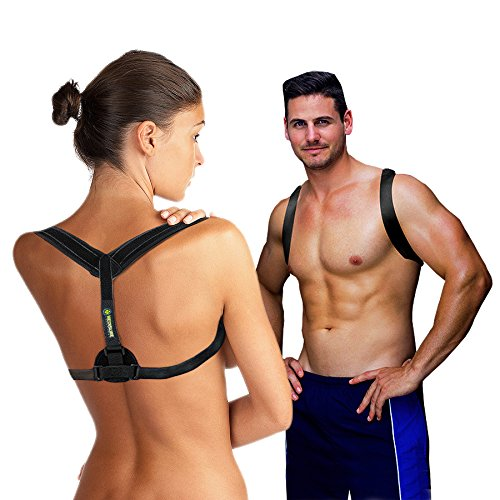 Medisure Adjustable Back Posture Corrector for Men and Women: Lightweight, Padded Posture Brace Provides Back Pain Relief, Shoulder and Neck Support – Superior Comfort – Perfect Posture Corrector by Medisure Solutions