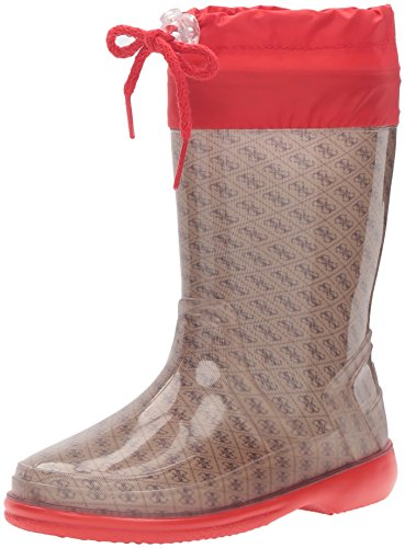 Guess Kids Shoes (GUESS Girls' Paola Pull-on Boot, Beige/Black, 27 EU/10 M US Little Kid)