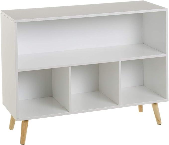 Estantería Infantil Blanca de Madera Moderna para Dormitorio Child - LOLAhome: Amazon.es: Hogar