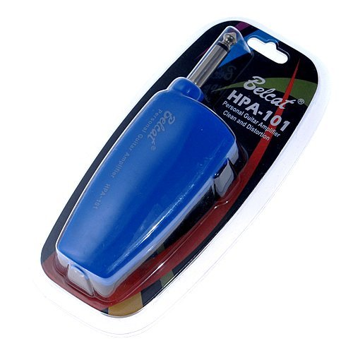 Belcat Blue Guitar Headphone Amplug Plug in Amplifier w/ Distortion and Clean Sound