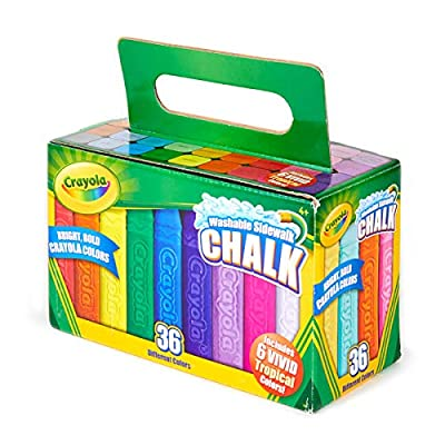 Crayola Washable Sidewalk Chalk, Outdoor Toy, Gift for Kids, 36 Count: Toys & Games