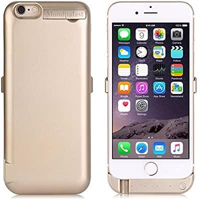Mondpalast@ Oro Externos 8200 mah batería Funda Cargador Para Apple iphone 6+ 6S+ IPHONE 6 PLUS 6S PLUS iPhone 6s / 6 plus (Con salida USB para cargar ...