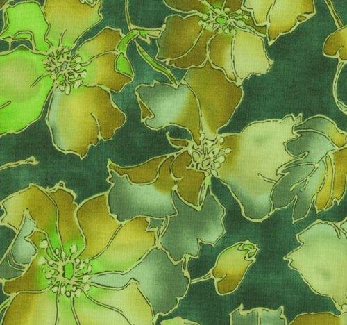 Jinny Quilt Fabric Beyer (RJR Jinny Beyer 'Ambrosia' Green Floral Cotton Fabric - 1yd 9in)
