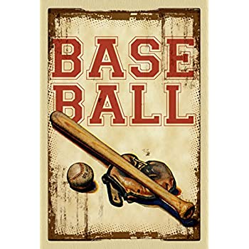 "Toland Home Garden Vintage Baseball Decorative USA-Produced House Flag, 28"" x 40"""
