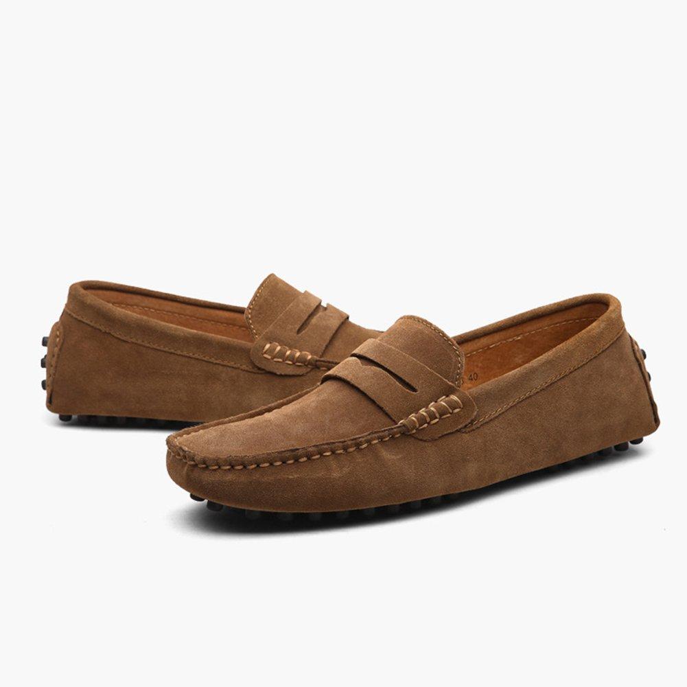 CAI Frauen Schuhe Flache Ferse Schuhe Schuhe Ferse 2018 Männer und Frauen Leder Erbsen Schuhe Herrenschuhe British LUN Freizeitschuhe Outdoor-Reisen Tägliche Schuhe (Farbe   009, Größe   47) 83bf2a